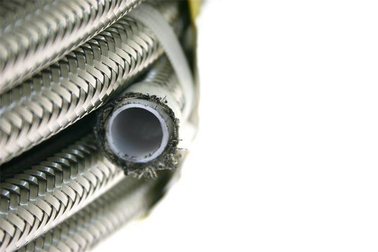 Przewód teflonowy PTFE AN6 8,5mm karbowany oplot stalowy - GRUBYGARAGE - Sklep Tuningowy